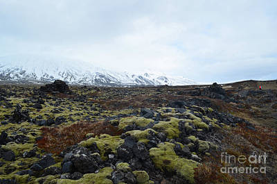 Photograph - Icelandic Landscape Of A Snow Capped Mountain  by DejaVu Designs