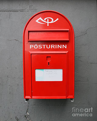 Photograph - Icelandic Mailbox by Catherine Sherman