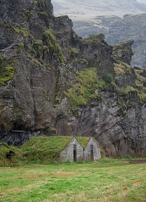 Photograph - Icelandic Mountain Huts by Jack Nevitt
