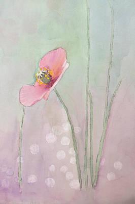 Painting - Icelandic Poppy In Pink by Jim Brage