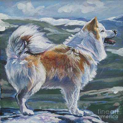 Painting - Icelandic Sheepdog by Lee Ann Shepard