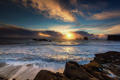 Photograph - Icelandic Sunset by Allen Biedrzycki