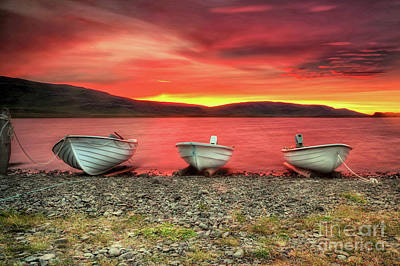 Photograph - Icelandic Sunset by Roxie Crouch