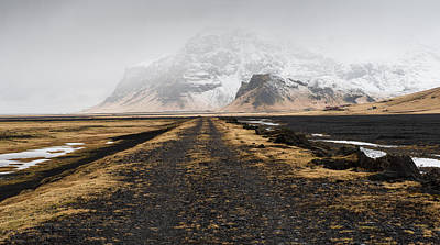 Vintage Diner Cars Royalty Free Images - Icelandic mountain winter  landscape Royalty-Free Image by Michalakis Ppalis