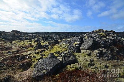 Photograph - Icelandic Volcanic Rock Field On The Snaefellsnes Peninsula  by DejaVu Designs