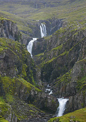 Photograph - Icelandic Waterfall by Elvira Butler