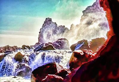 Photograph - Icelandic Waterfall by Richard Goldman