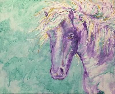 Icelandic Horse Painting - Icelandic Winds by Julie Khyler