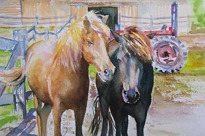 Icelandic Horse Painting - Icelandics by Brenda Myrick