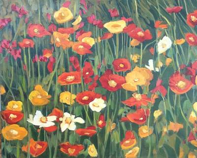 Painting - Icelands  Poppies by Liliane Fournier