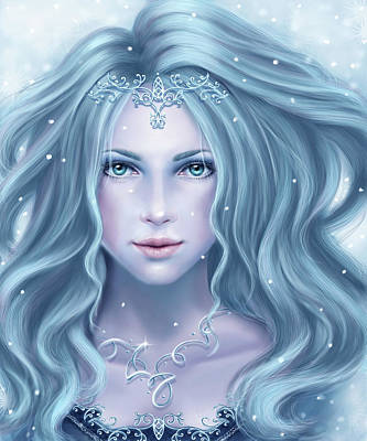 Digital Art - Iceprincess by Tatjana Willms