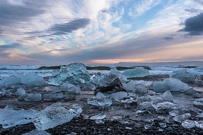 Photograph - Icey Sunset by Scott Cunningham