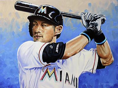 Painting - Ichiro by Rick McKinney