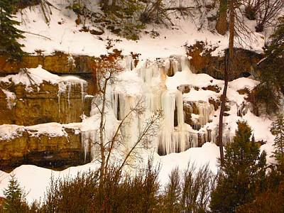 Photograph - Icicle Cascade Cedar Canyon Utah by Deborah Moen