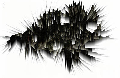 Digital Art - Icicle Cave Abstract Image 1831.022714 by Kris Haas