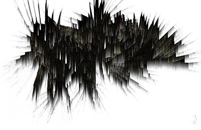 Digital Art - Icicle Cave Abstract Image 1832.022714 by Kris Haas