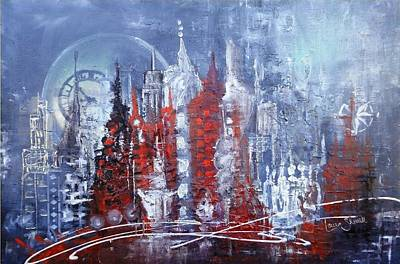 Icicle City Original by Laura Sherrill