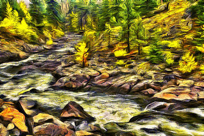 Digital Art - Icicle Creek Autumn Flow by Mark Kiver