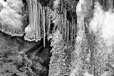 Photograph - Icicle Landscape by Cate Franklyn