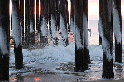 Photograph - Icicle Splash by Robert Banach