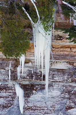 Photograph - Icicles by Jim Zablotny