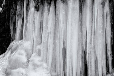 Photograph - Icicles, No. 3 Bw by Belinda Greb