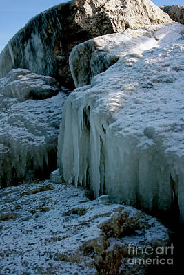 Photograph - Icicles On The Rocks by Kathy DesJardins