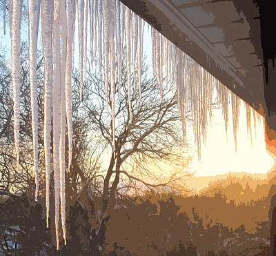 Photograph - Icicles One by Ian  MacDonald