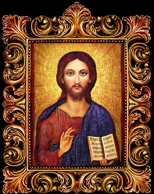 Icon Christ Altar Art Print by Ananda Vdovic
