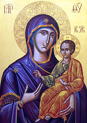 Romanian Icons Photograph - Icon Of Mary And The Child  by Munir Alawi