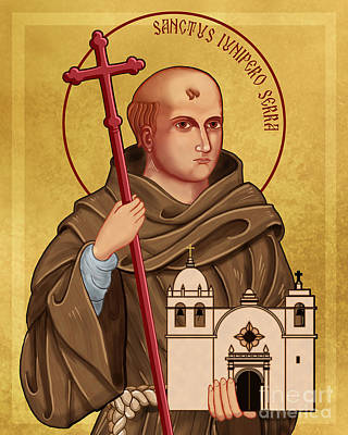 Icon Of Saint Junipero Serra Art Print