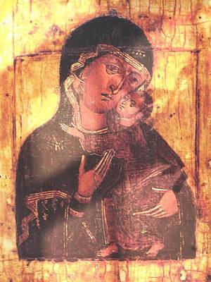 Photograph - Icon Of The Blessed Virgin Mary With Child Jesus by Jake Hartz