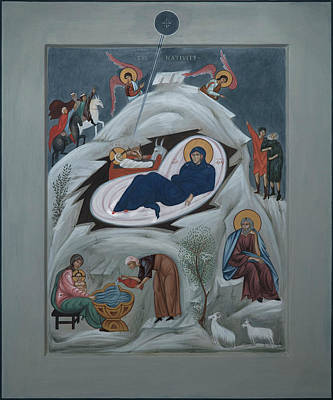 Icon Of The Nativity Of Christ Art Print by Philip Davydov
