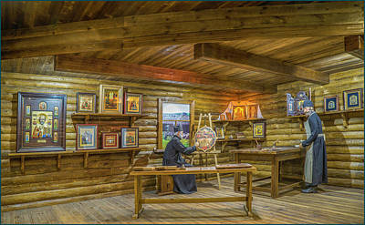 Photograph - Icon Painting Workshop by Vladimir Kholostykh
