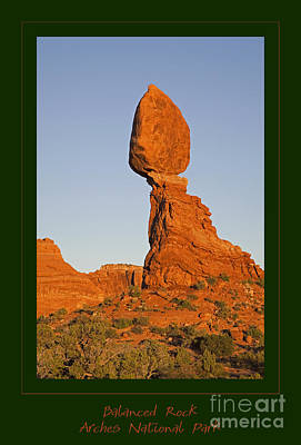 Photograph - Iconic Balanced Rock At Sunset by John Stephens