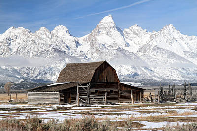 Photograph - Iconic Barn In Grand Tetons National Park  by Pierre Leclerc Photography