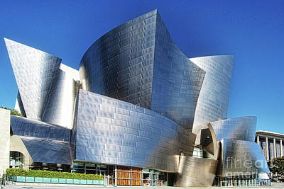 Photograph - Iconic Disney Concert Hall  by Norma Warden