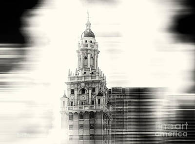 Photograph - Iconic Freedom Tower Miami Bw by Rene Triay Photography