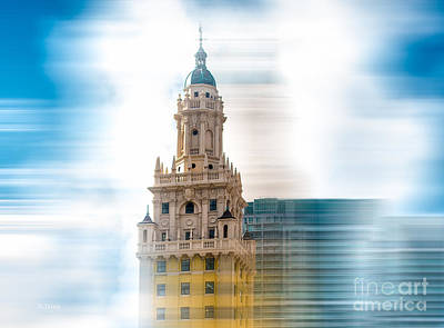 Photograph - Iconic Freedom Tower Miami Dramatic Look by Rene Triay Photography