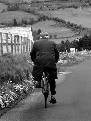 Photograph - Iconic Irish Gentleman Cycling by Lexa Harpell