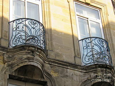 Photograph - Iconic Ironwork Balconies by Barbara Plattenburg