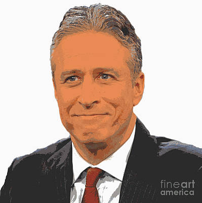 Jon Stewart Painting - Iconic Jon Stewart by Pd