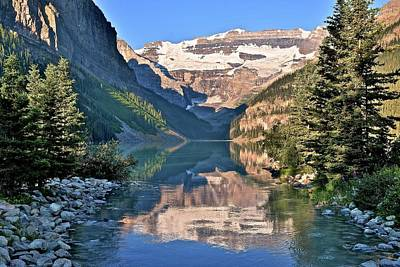 Photograph - Iconic Lake Louise View by Frozen in Time Fine Art Photography
