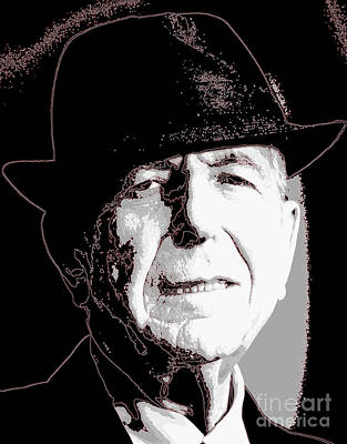Wild And Wacky Portraits Rights Managed Images - Iconic Leonard Cohen Art Royalty-Free Image by Pd