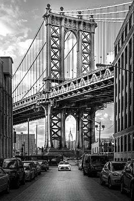 Bridge Photograph - Iconic Manhattan Bw by Az Jackson