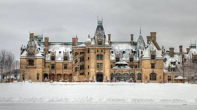 Photograph - Iconic Mansion Covered In Snow by Carol Montoya