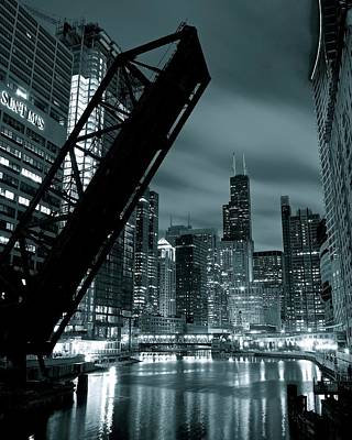 Photograph - Iconic Monochrome From Kinzie by Frozen in Time Fine Art Photography
