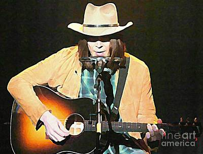 Neil Young Painting - Iconic Neil Young by John Malone
