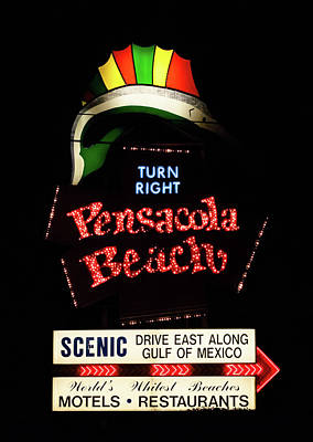 Photograph - Iconic Pensacola Beach Sign  by Debra Forand