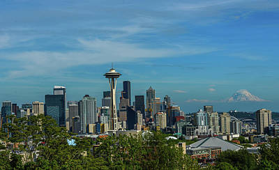 Photograph - Iconic Seattle by Jerry Cahill